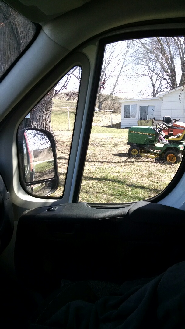 Eleva, WI - Checking out a furnace for this nice guy in Eleva wi, He was telling me all about his lawn tractors!