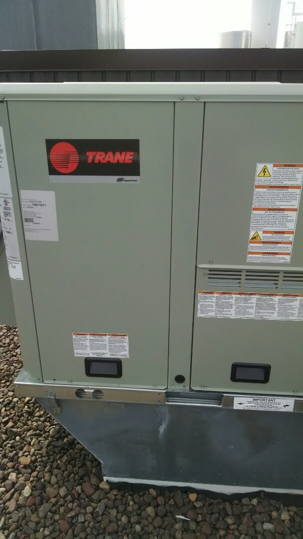 Durand, WI - Checking out a Trane RTU at a business in Durand Wi. these things require annual maintenance.