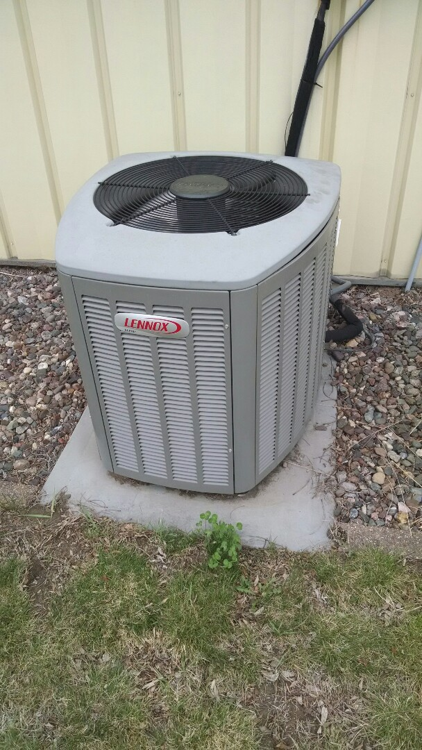 Durand, WI - Air conditioner ready for summer.