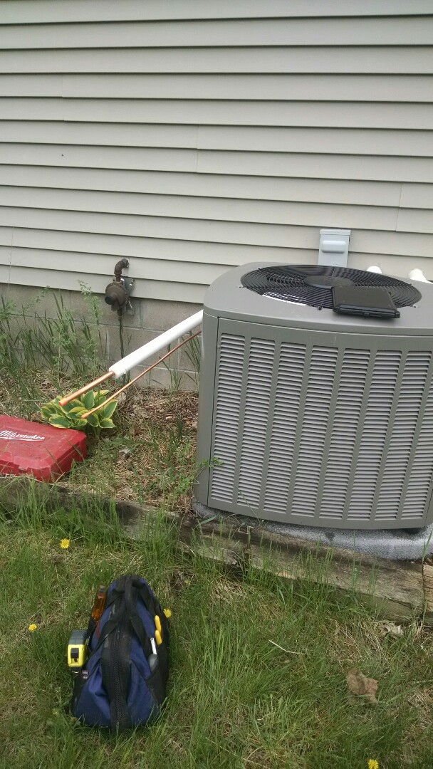 Pepin, WI - Finish Air conditioner install