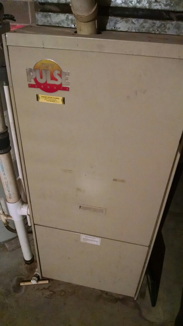 Durand, WI - Just repaired Kate's blower on furnace