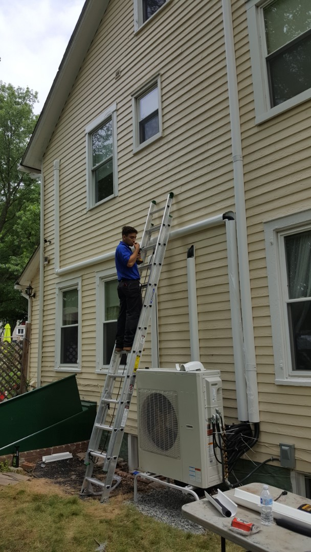 Hillsborough Township, NJ - Installing a Trans ductless system in Hillsborough NJ 08844