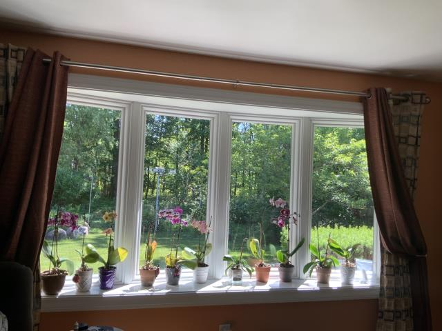 Effort, PA - Visiting with a customer in their lovely home where we recently installed bow window.