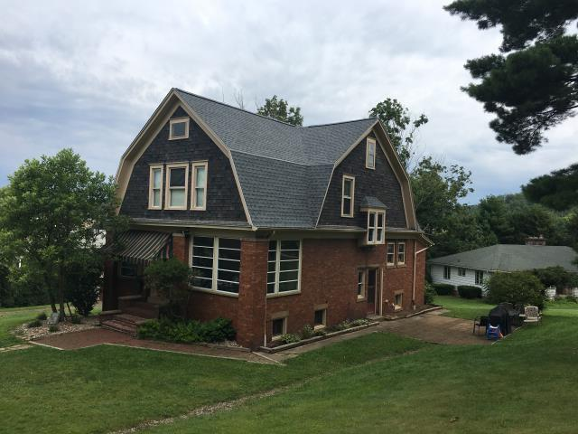 Dennison, OH - What an awesome home and the GAF Timberline HD Oyster Gray shingles look good also!