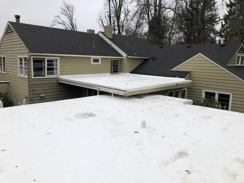 Eugene, OR - Just finished a Duro Tuff membrane install