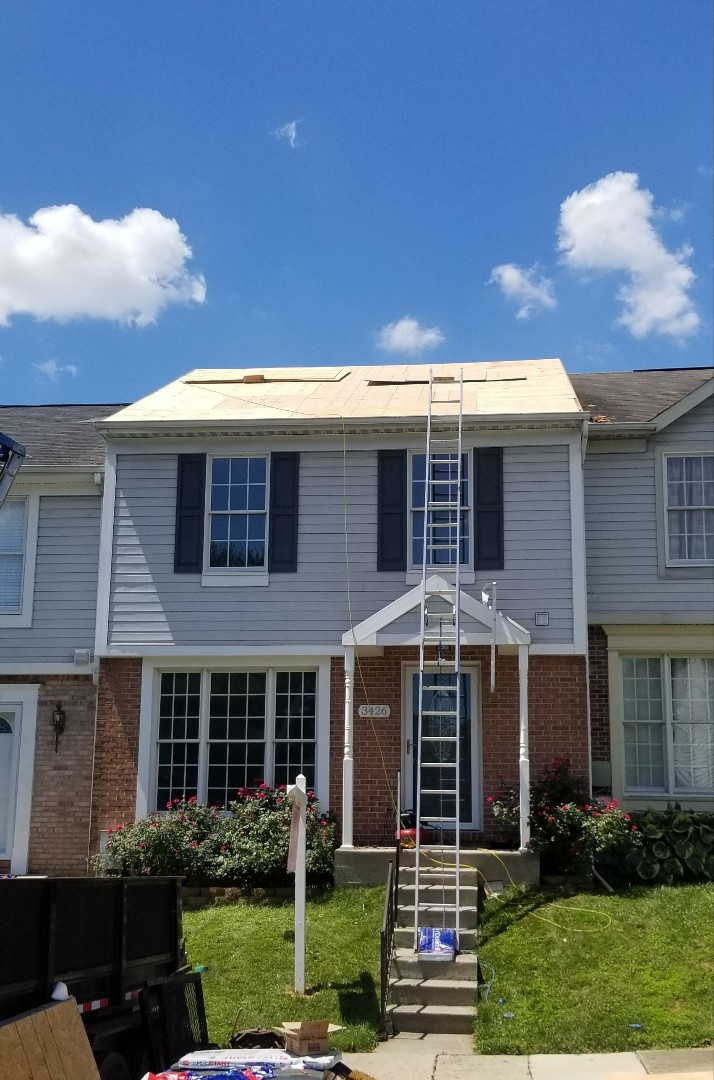 Abingdon, MD - All new plywood, GAF TimberlineHDZ in charcoal going back on soon!