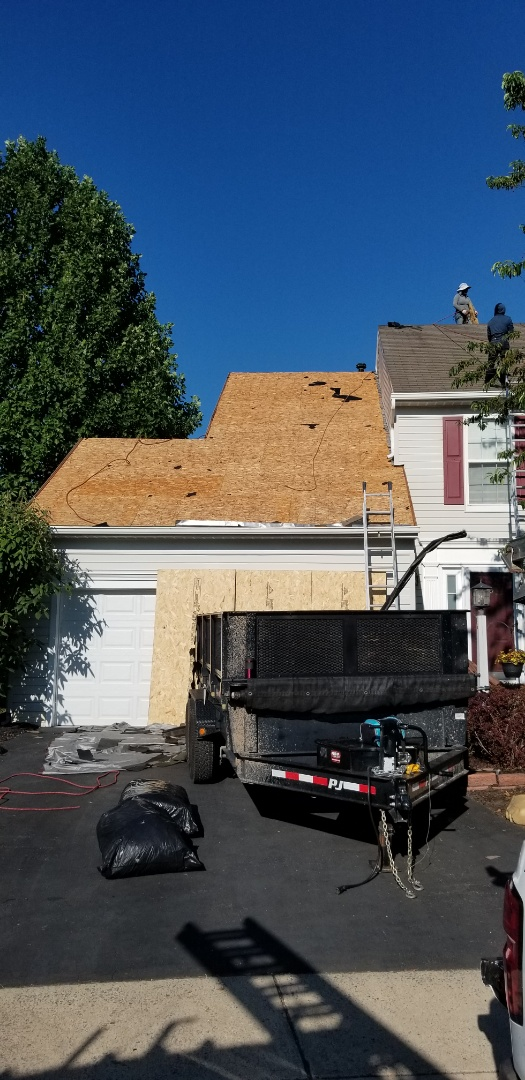 Pasadena, MD - Complete roof replacement using GAF Timberline HDZ shingles in Mission Brown color, beautiful!
