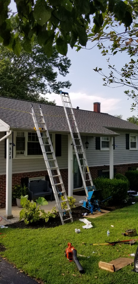 Aberdeen, MD - Another ROOF INSTALLATION REPLACEMENT with GAF products. Timberline HDZ shingles in Williamsburg slate.
