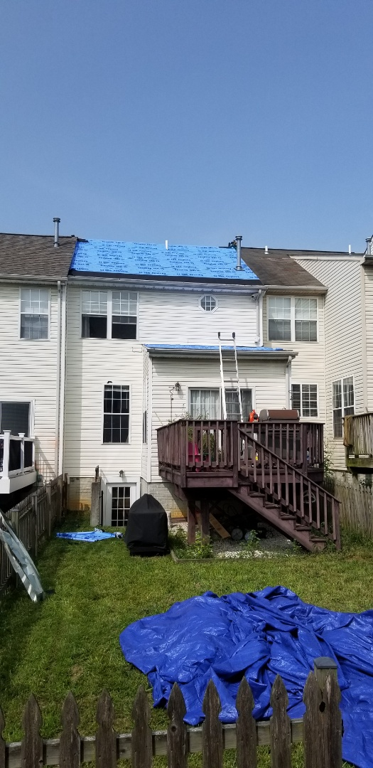 Abingdon, MD - New roof installation with GAF Timberline HDZ in color Weathered  Wood.