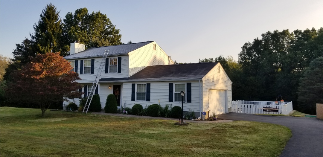 New Freedom, PA - Brand new roof installation. GAF products, Timberline Lifetime shingles.