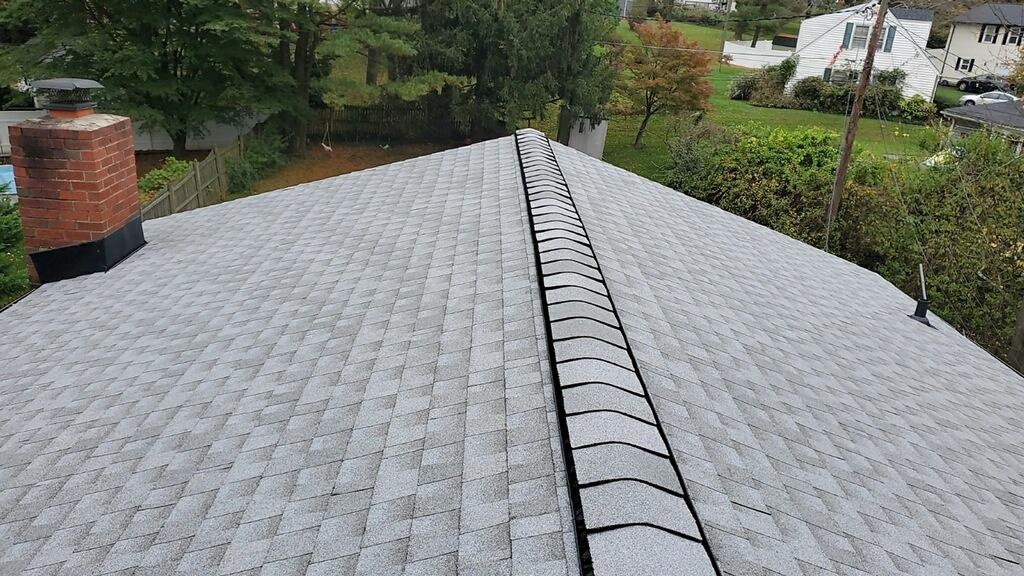 Towson, MD - Beautiful roof completed in Fox Hollow Gray! GAF Timberline HDZ shingles