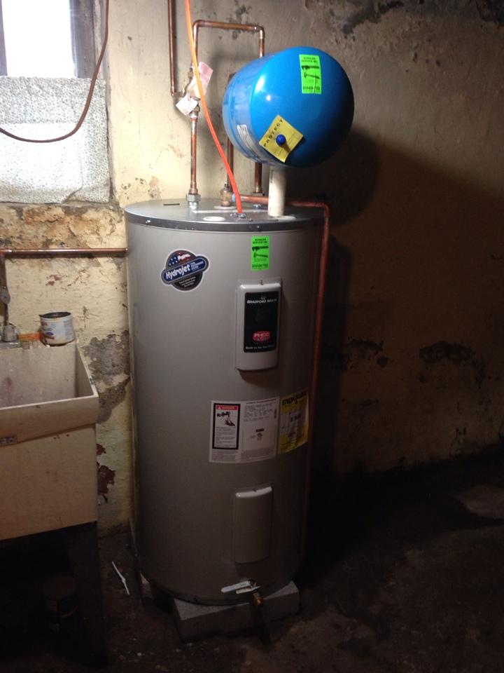 Allentown, PA - New Bradford white water heater installed