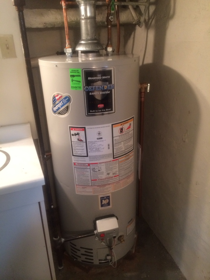 Allentown, PA - Replacing a 15 year old gas water heater.