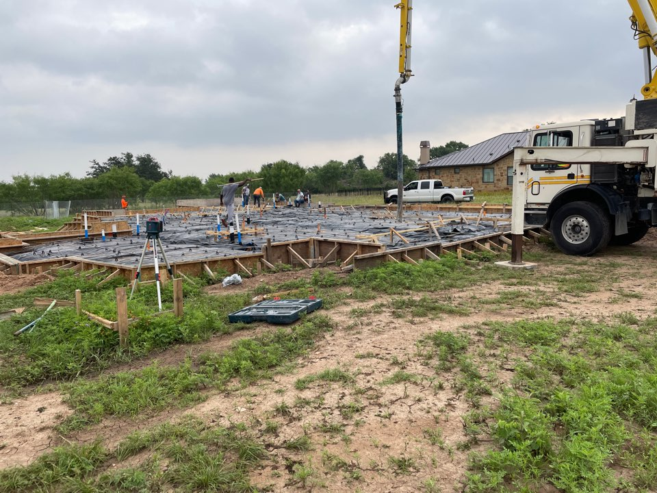 Horseshoe Bay, TX - New Home Foundation Pour