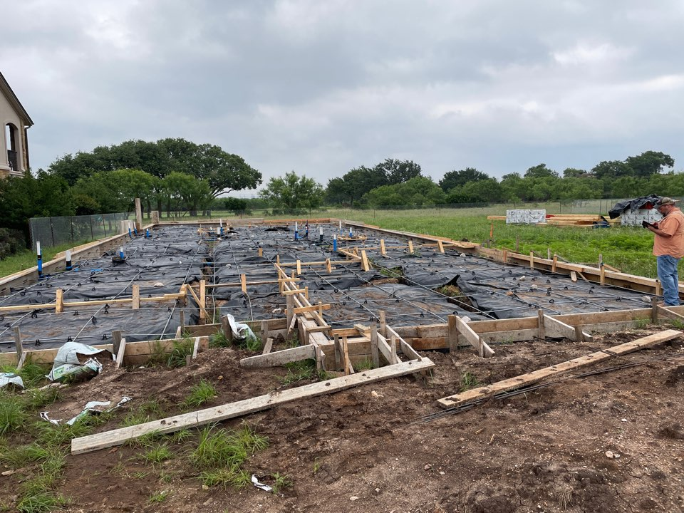 Horseshoe Bay, TX - Form ready for new Home construction foundation pour