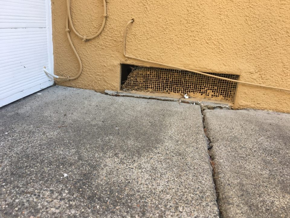 Rodent opening garage vent