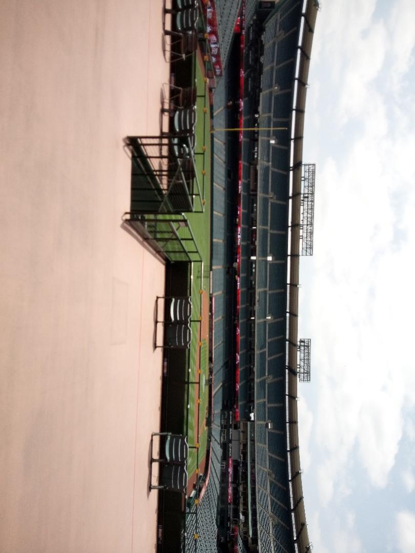 Angel Stadium Terrace level inspection.