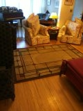 4 pieces of upholstery cleaned with 2 area rugs deep cleaned.