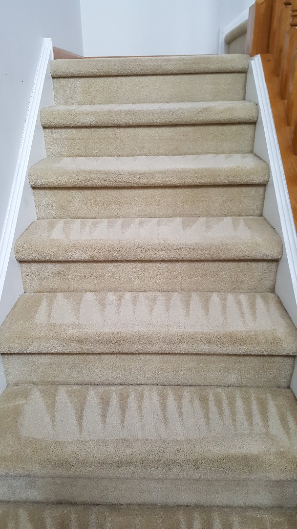 Stairs and hallway cleaning