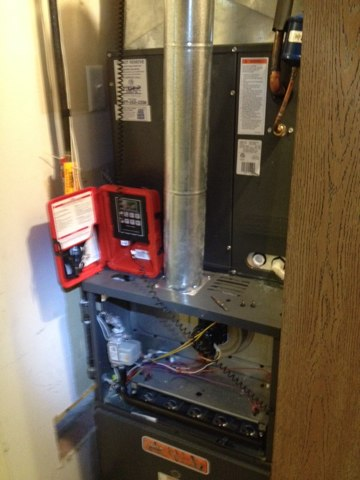 Elsah, IL - Performed fall inspection and safety check  on Tiger Signature Series  furnace