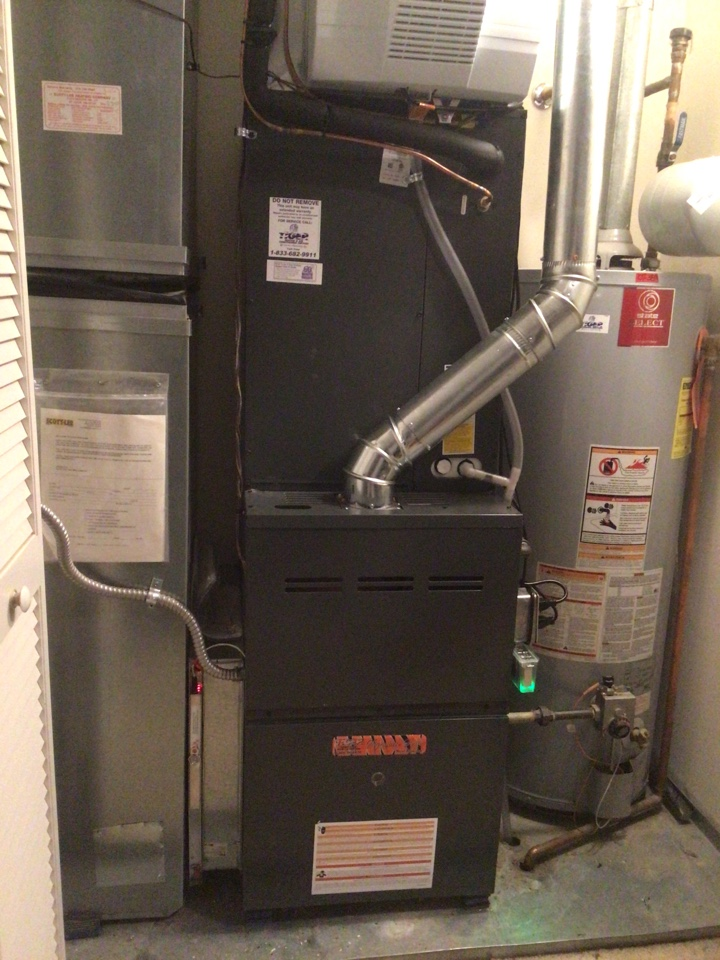 Installed tiger signature series gas furnace and AC