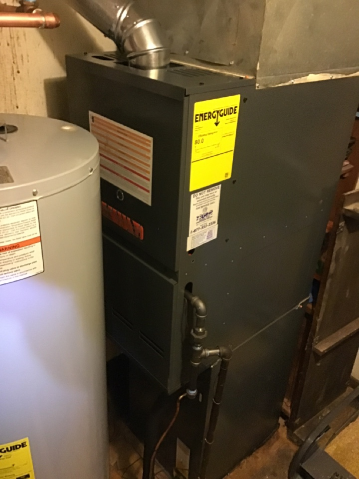 Fayetteville, IL - Installed new Tiger Signature Series gas furnace and air conditioner with static filter and digital thermostat