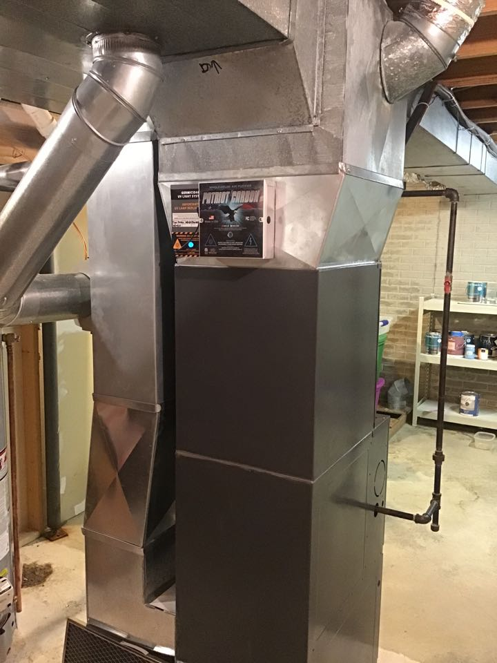 Normal, IL - Patriot Carbon Whole house air purifier installation.