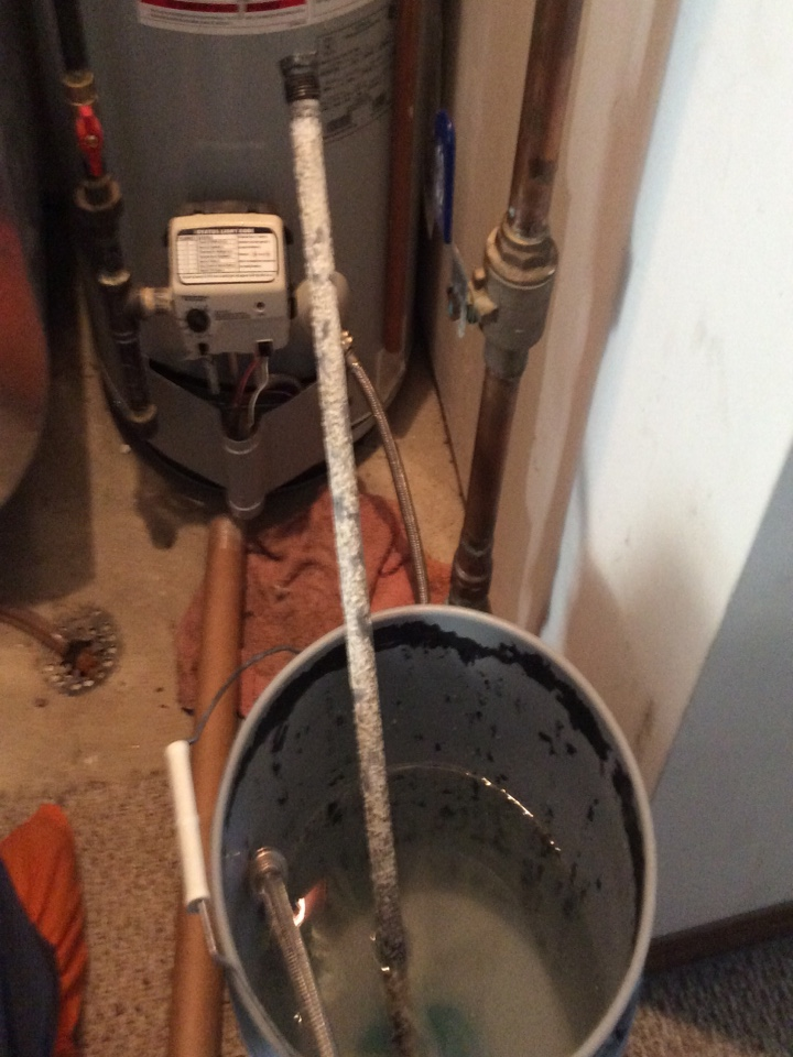 Elsah, IL - Heating and cooling service call. Performing scheduled maintenance on a 2014 tiger series furnace and air conditioner for a valued club member. Found defective anode rod in the water heater, correcting the issue.