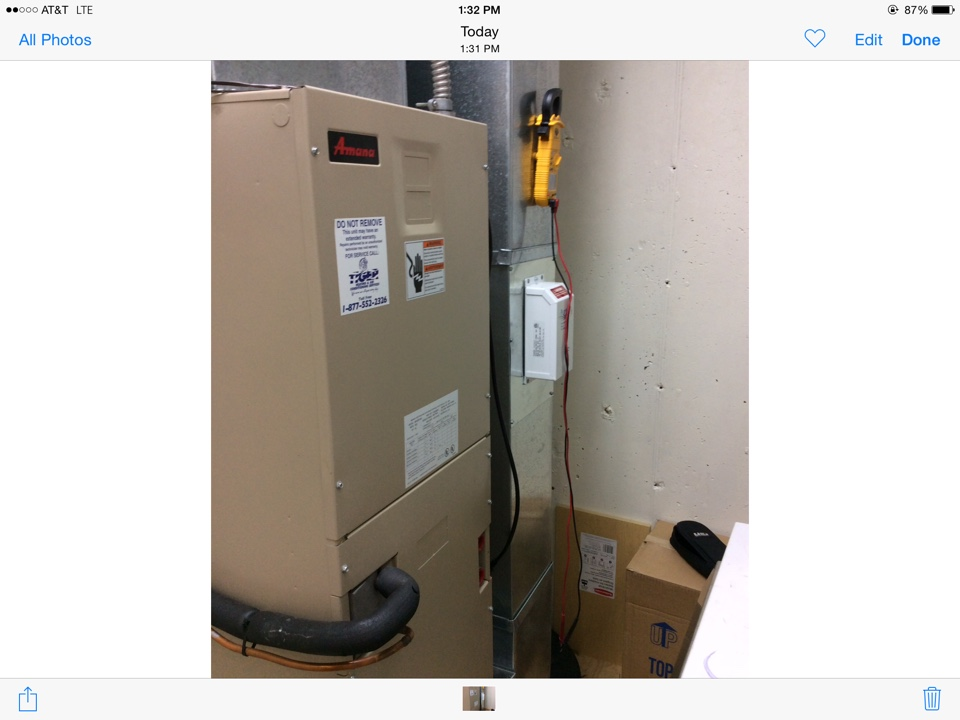 Trenton, IL - Heating and cooling service call. Starting up a new 90% mobile home furnace.