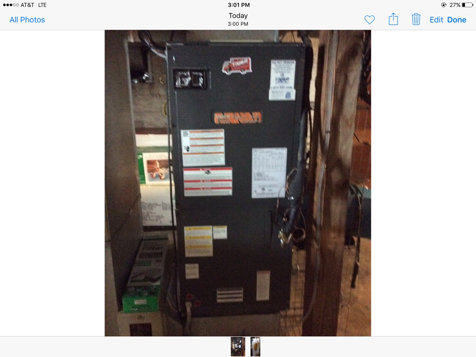 New Douglas, IL - Heating and cooling service call. Performing a safety inspection and cleaning a Tiger Signature Series heat pump system.