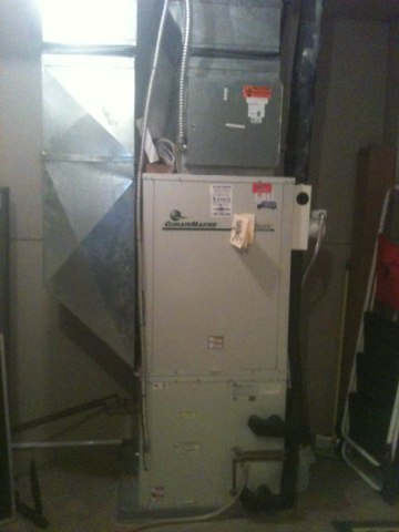 Greenville, IL - Clean and check on Climatemaster geothermal system.