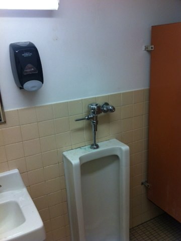Alorton, IL - Rebuilt Sloan urinal with all new parts also installed commercial power assisted toilet