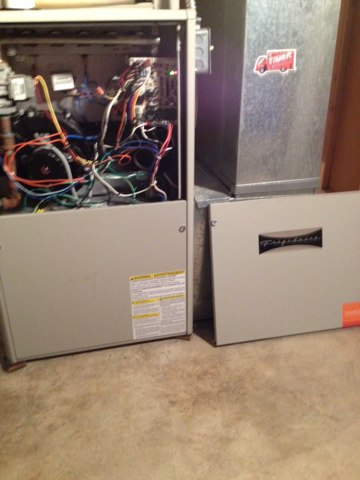 Hartford, IL - Frigidaire furnace under warranty. Replaced mother board.