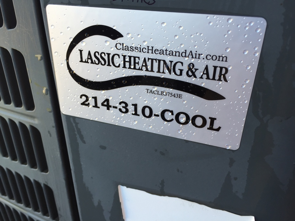 Carrollton, TX - Clean/Check/Tune completed on two gas systems. Air conditioners ready for summer.
