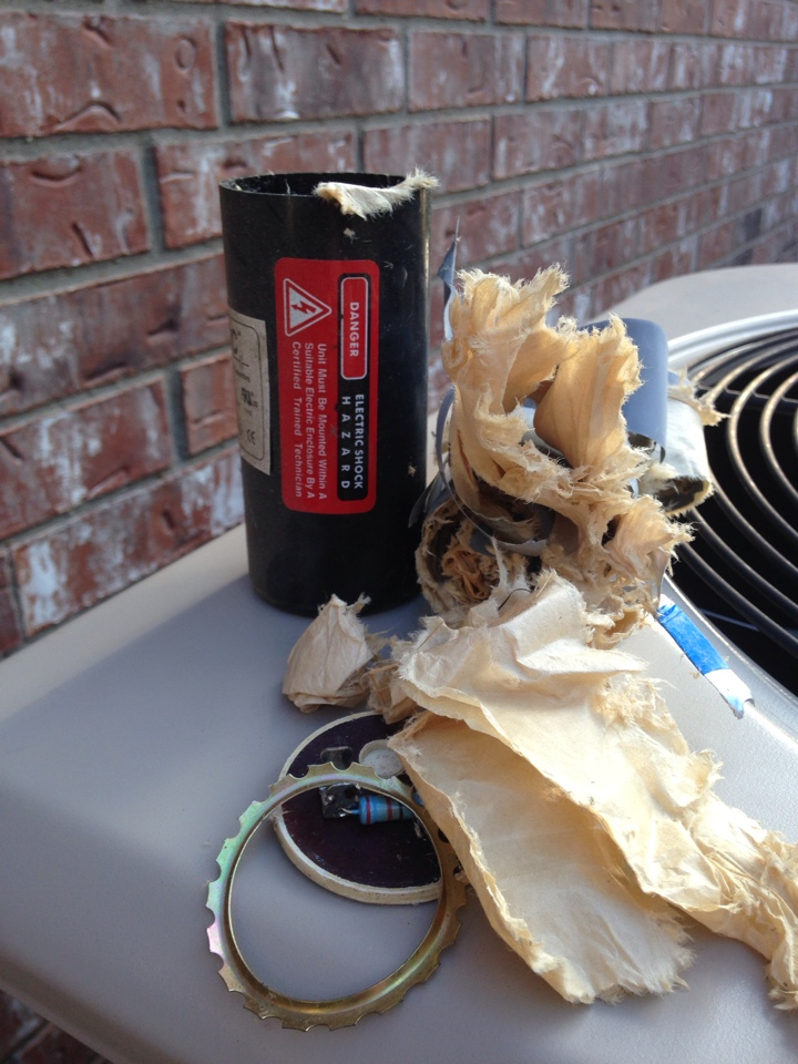 Fairview, TX - This is what happens to a start assist kit when a compressor goes bad!