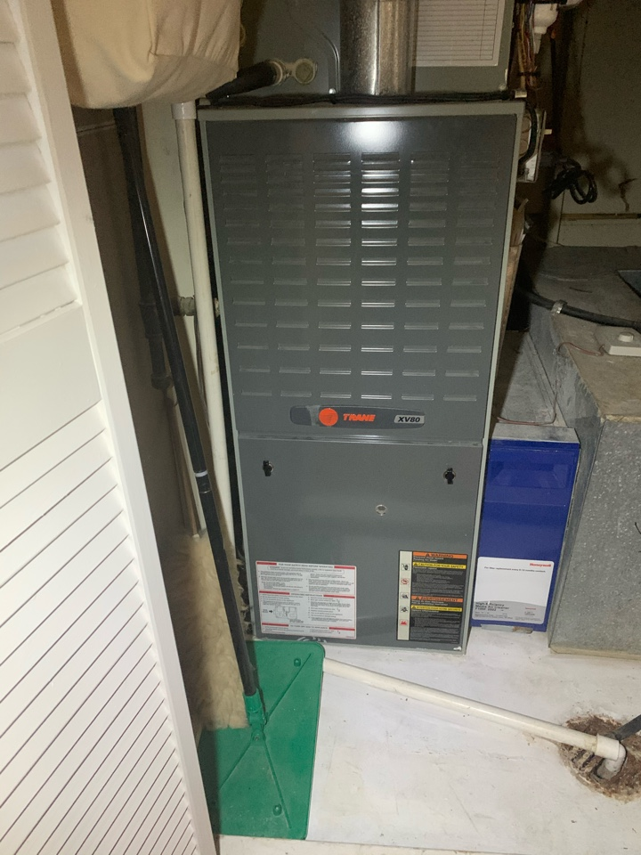 Springfield, VA - Performed Fall preventive maintenance on Trane Gas Furnace.