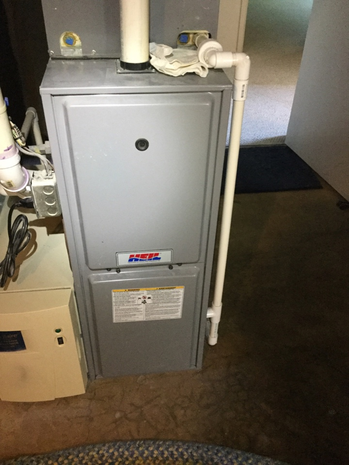 Fairfax, VA - Performed Fall preventive maintenance on Heil Gas Furnace.