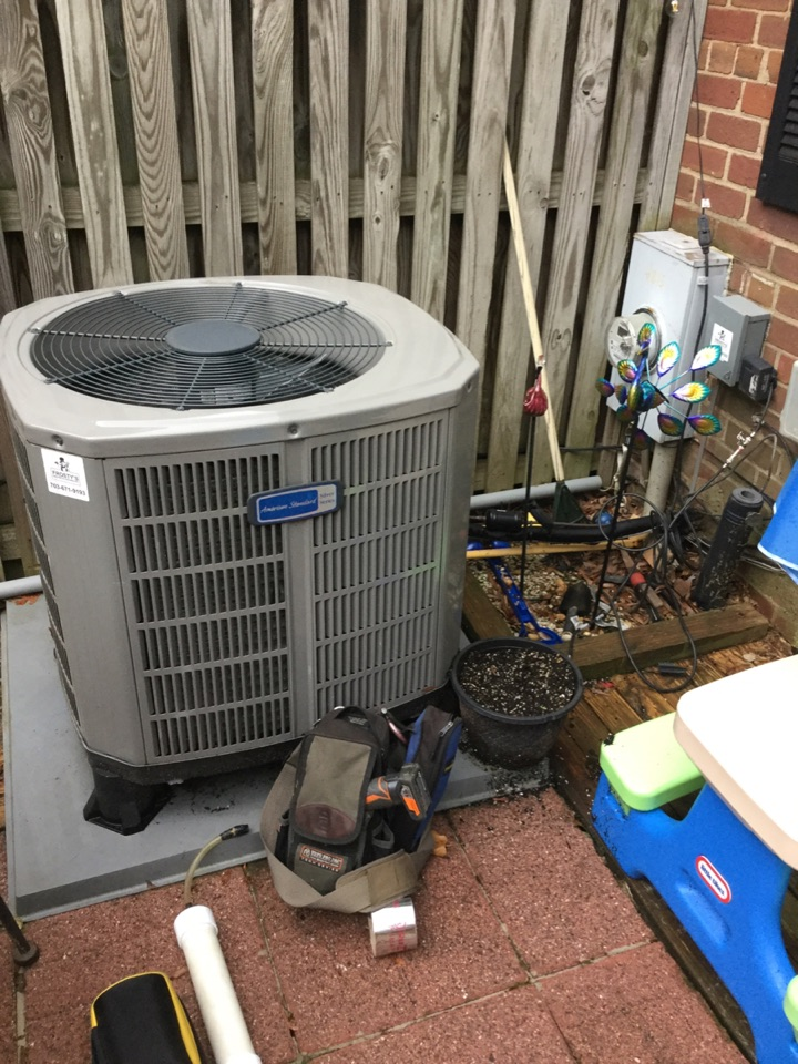 Arlington, VA - Performed Fall preventive maintenance on American Standard Heat Pump system. Fairlington