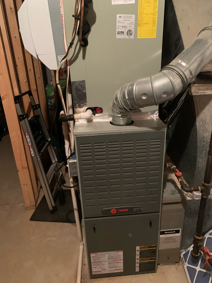 Springfield, VA - Performed Fall preventive maintenance and repairs on Trane Gas Furnace and Heat Pump system.