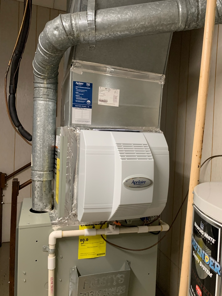Arlington, VA - Performed installation of an April Aire Humidifier