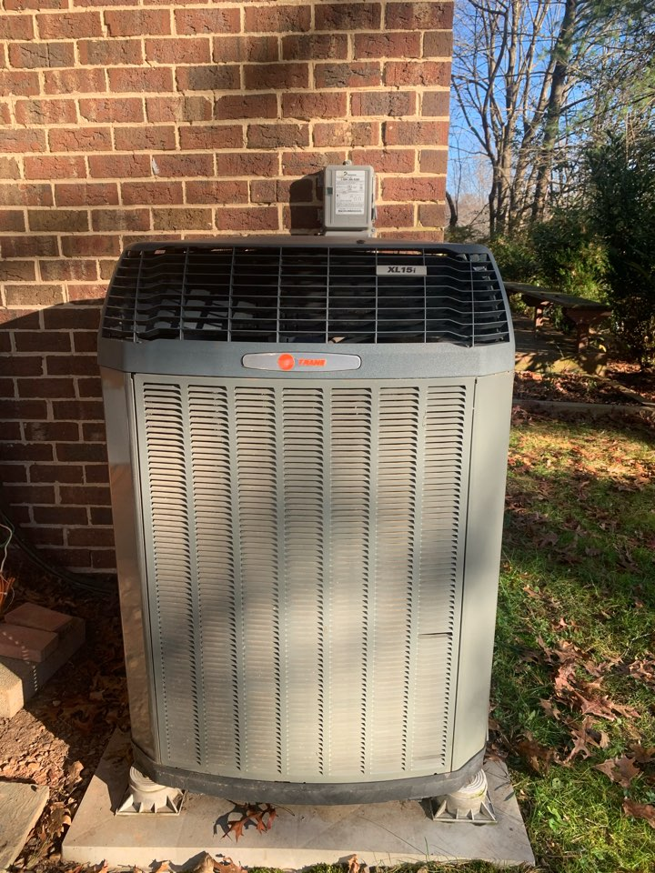 Performed Fall preventive maintenance on Trane Heat Pump system.
