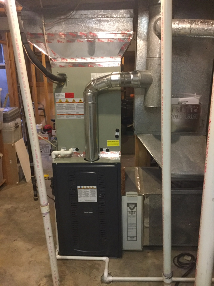 Fairfax, VA - Performed New System Heat start up on American Standard Gas Furnace.