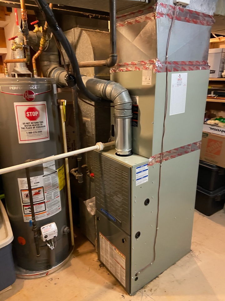 Fairfax, VA - Performed Fall preventive maintenance on American Standard Gas Furnace.