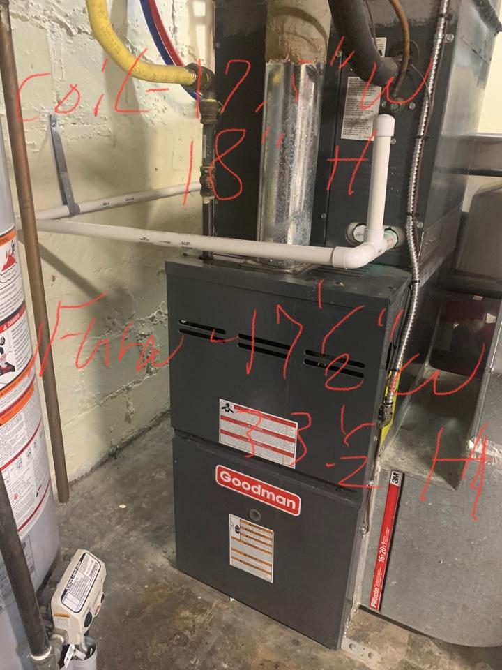 Alexandria, VA - Performed preventive maintenance on Goodman Gas Furnace.
