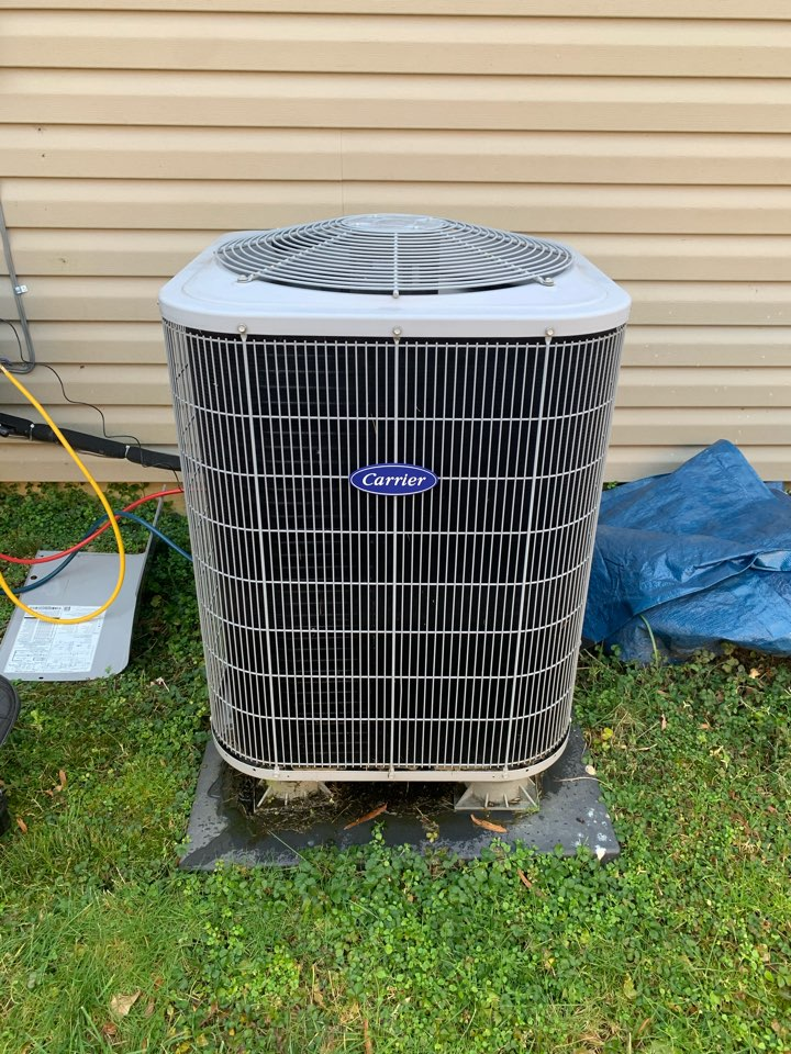 Performed diagnostics and repairs on Carrier Heat Pump and Gas Furnace.