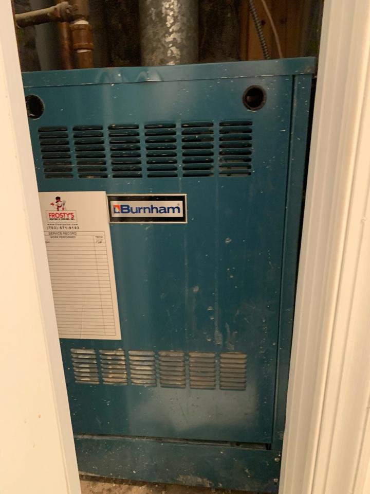 Alexandria, VA - Performed repairs on Burnham Gas Boiler.