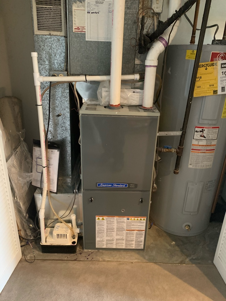 Alexandria, VA - Performed diagnostics and repair on American Standard Gas Furnace.