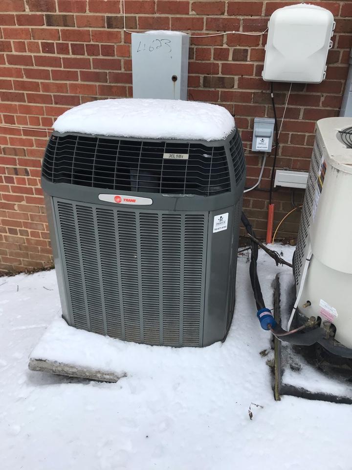 Arlington, VA - Trane Heat Pump inspection on S. 28th Rd in Fairlington, Va.