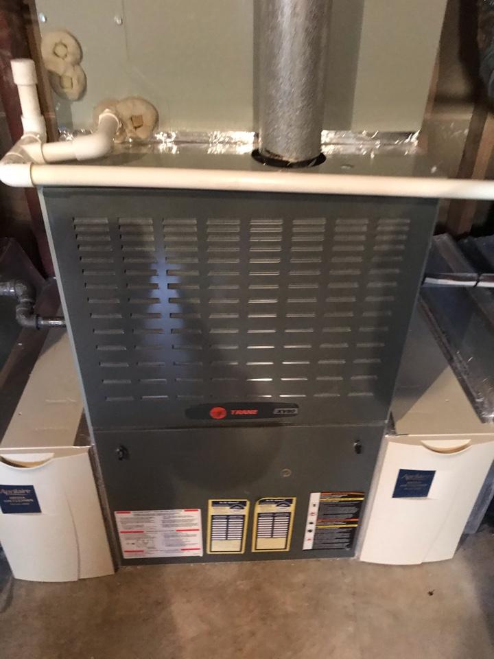 Arlington, VA - Trane furnace heat inspection on N. Brandy wine St