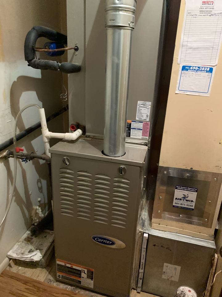 Performed repairs on Carrier Gas Furnace.
